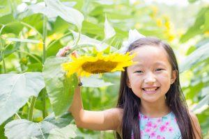 Girl sunflower